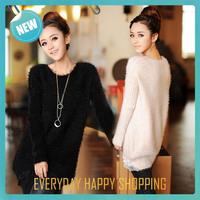 2014 new crocheting warm black blusa,womens long sleeve Knitwear,winter sweaters women fashion