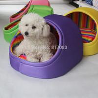 Free shipping New style pet bed house cat dog Fashion washable anti-skidding pet stripe nest dog kennel A010-1