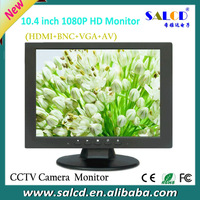 wholesale  ! 10.4 inch hdmi monitor with BNC/VGA/AV/HDMI for security system+ EMS free shipping
