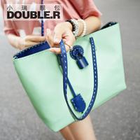 Macaron one shoulder cross-body bags large 2014 women's brief handbag vintage lock bag