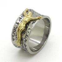 New Style !! Men's Sacred Gold Jesus Christ Ring 316L Stainless Steel Silver Jewelry , Best Price !!