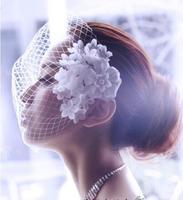 Handmade bridal veil headdress light and lovely flowers