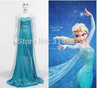 Free shipping Frozen Queen Elsa Dress Cosplay Costume Halloween Clothing Dress