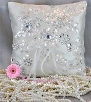 European Senior Freeze creative flash chip car bone lace wedding ring pillow Korean wedding ring care