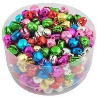 Free shipping (1000pcs/lot) Colorful  Loose Beads Christmas Festival Decration jingle bells 8mm Pendants Charm