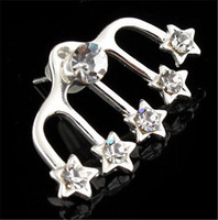 1PC Fashion Womens Crystal Star Shape Ear Stud Pin Wrap Earring Cuff  hot sell ER495 for women