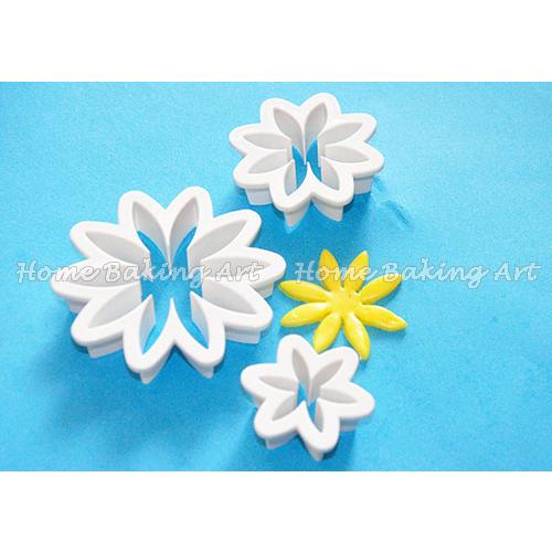 Daisy flower cake design fondant cake cutter,high quality cake decorating plastic cutter,useful sugar art tools(China (Mainland))