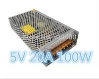 Free Shipping 5V Output 5V 20A 100W Switching Power Supply Driver For LED Strip light Display AC100V-240V Input
