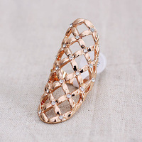 Euramerican diamond-studded Geometric hollow out rings fashion exaggerated ring ,free shipping