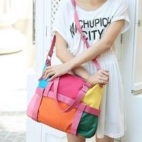 Female bags vintage patchwork braccialini bag 2014nylon PU one shoulder cross-body handbag casual