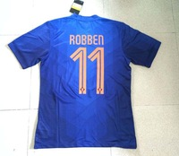 Netherlands 2014 World Cup Home away Player version Soccer Jersey 14 15 Holland Away #11ROBBEN Blue Football Shirt Free Shipping