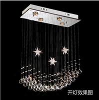 2014 Pentagram Minimalist Modern Living Room Chandelier Fashion Crystal Glass Corridor Restaurant Bar Terrace lamps ds-084