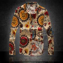 2014 autumn flax long sleeve slim fit Linen casual men's shirts mens Dress big size  M-XXL-3XL-4XL-5XL-6XL 8 Colors camisas(China (Mainland))