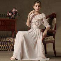 women  summer dress pink fairy vintage ruffles beading belt dresses slim fit plus size xl pullovers long dress maxi dress