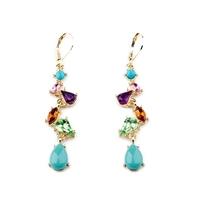 Min $10 - Pendientes Jewelry Elegant Multicolor Water drop Earrings Fashion New 2014 Brincos For Women
