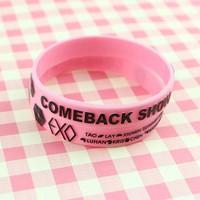EXO XOXO candy color Fashion Womens KPOP EXO EXO-M Letter Pattern Bracelet 3D stereoscopic bracelet