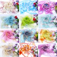 Small facecloth chiffon scarf summer scarf female scarf muffler spring and autumn winter women's small silk scarf all-match