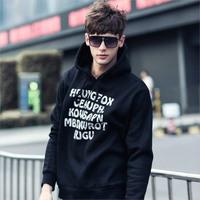 Free shipping 2014 spring personality casual letter print sweatshirt fashion hoodies men moleton masculino man hoody