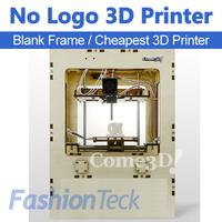 Cheapest No Logo Blank Frame 3d Printer CE ROHS Free ABS PLA Filament Makerbot Single Head Extruder 3 d Printer Drop Shipping