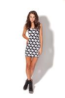 2014 Women new Dress digital print beard pattern  summer Vest Tops -YF024