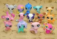 14different 10pcs /Lot Action Figures Animal Loose Figures 4-6cm Baby Collection PVC Toys Free Shipping Littlest Pet Shop vinyl