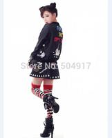 2014 fall new loose oversized Pullovers print skull letter Monroe sweatshirts harajuku Punk sweatshirt sports suits for women