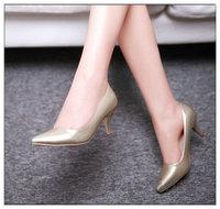 On Sale Plus Size Female Platform Women's Shoes, High Heels Shoes Woman Pumps Simple Korea Style Pointed Toe Shoes 1618