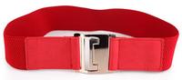Woman Solid Elastic Cummerbund Elegant Wide belt for female Adjustable 2 Colors Brand new Cintos Cinturon N252 Hot sales