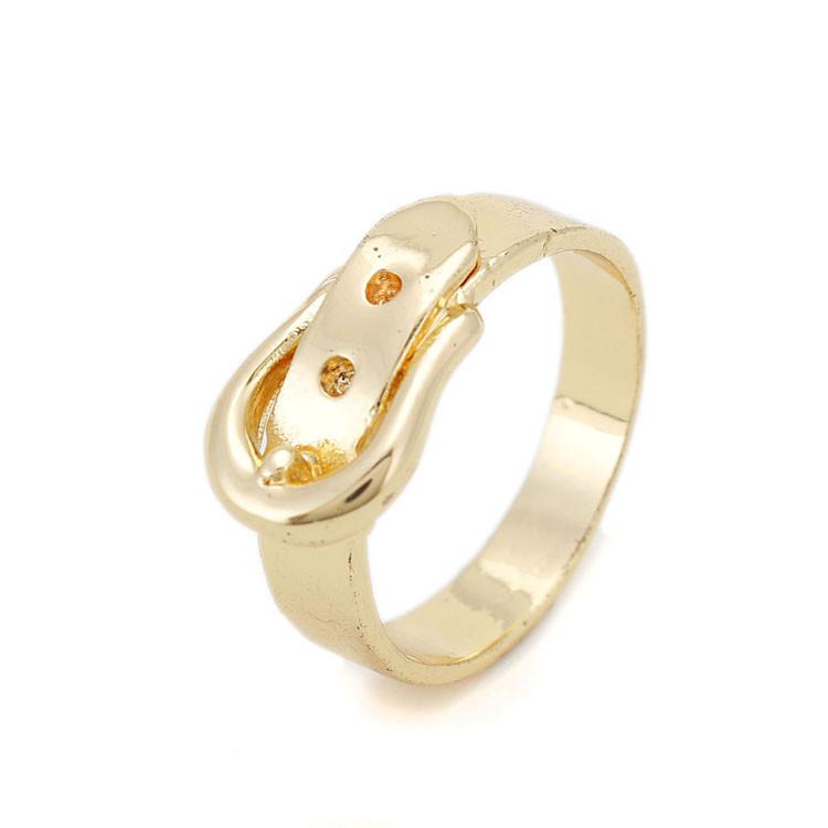 fashion new arrive ring belt desigen 14 k gold alloy