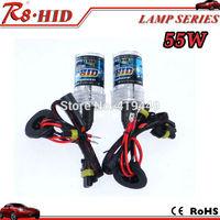 OSP 55W HID Bulbs 2pcs single beam xenon lamps bulbs H1 H3 H7 H8 H9 H11 9005 9006 880 881 good quality