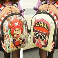New Backpack school bag cartoon cute ONE PIECE  bag canvas backpack