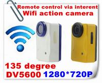 WiFi Action Camera & Portable Home Surveillance Camera Remote-controlled/monitoring via Internet 2014 HD 720p camcorder DV5600