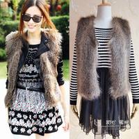 Faux Fur Vest Hot Sale High Quality Plus Size 2014 New Fashion Brand Winter Warm Women Outwear Women Jacket Coat Fur Waistcoat