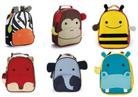 Zoo Thermal Tourism Lunch Bags For Kids Children Cute Ainmal Baby Outdoor Travel Insulated Box Thermo Lunchbox Picnic Handbag