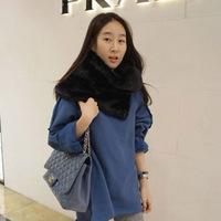 High Quality 2014 New Fashion Brand Winter Warm Colete De Pele Fur Scarf Shearling Rabbit All-Match Fur Jacket Faux Fur Vest