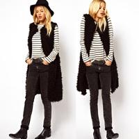 2014 New Fashion Brand Plus Size S-XXXL Faux Fur Coat High Quality Winter Warm Women Outwear Women Jacket Coat Fur Waistcoat