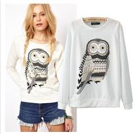 Fashion2014 Autumn Brief Owl Print Casual Slim Pullovers WWT-132