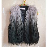 2014 New Fashion Brand Hot Plus Size S-XXXL Faux Fur Coat Winter Warm Women Outwear Colete De Pele Fur Jacket Faux Fur Vest