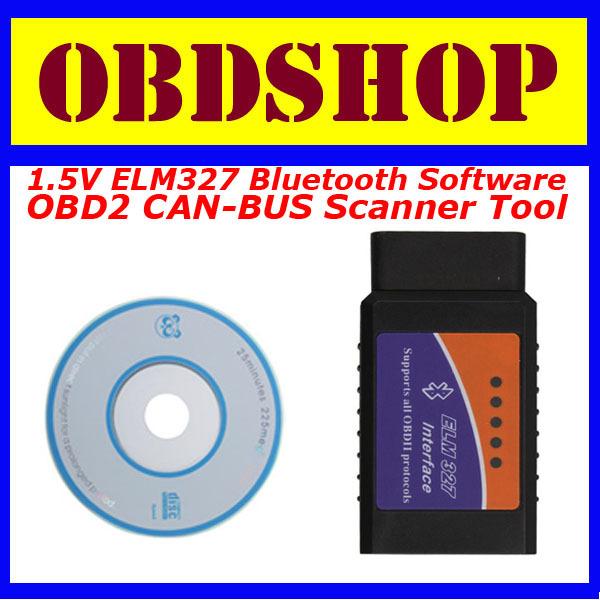 [OBDSHOP] 1.5V ELM327 Bluetooth Software OBD2 CAN-BUS Scanner Tool(China (Mainland))
