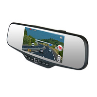 HD Car Rear View Mirror DVD DVR Recorder duo Camera M-430X free shipping