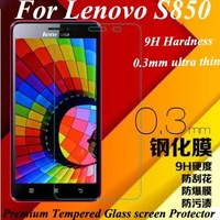 Brand New For Lenovo ideaphone s850 0.3mm thin premium tempered glass screen protector film,retail packing,free shipping
