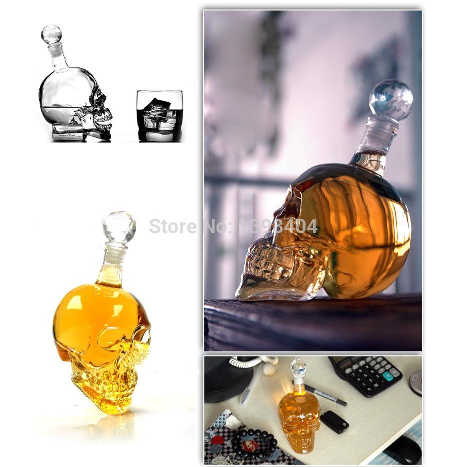 350ML Skull Crystal Head Vodka Whiskey Home Bar Wine Decanter IA361 HND(China (Mainland))