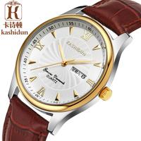 Kerastase Dayton men's genuine leather spike free shipping white quartz plate nailed Business ultrathin watches