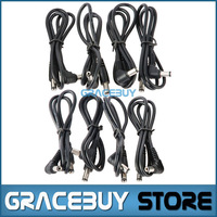 8 Pcs Black Vitoos DC Cable Sizing 2.1 mm For Sale, Guitar Effect Pedal Patch Power Leads/ Cord New Brand