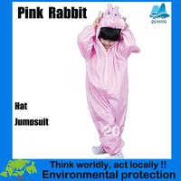 2013 New Halloween Pink rabbit cosplay costume for kids pajamas-KMSC0011