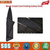 Folding Knife, Mini Fashion Black Credit Card Folding Safety Knife