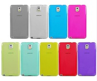 FREE SHIPPING by DHL 100pcs/lot 9 colors Clear Transparent Soft Rubber skin cover for Samsung Galaxy Note 3 III TPU Phone case