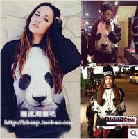 2014 New Winter Fashion 3D Printed Women Men Hoodies Panda Sweater Plus Size Sport Suit Pullovers Casual Sweatshirts Tracksuit