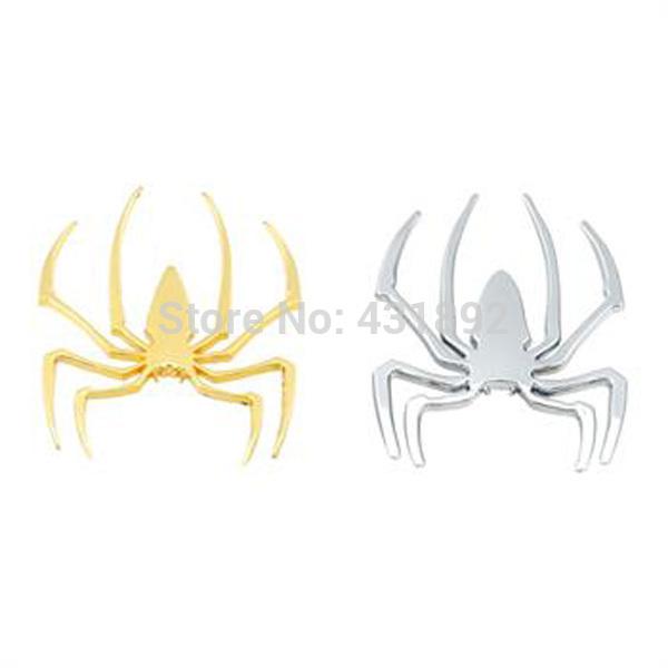10pcs spider Car Sticker,3D metal decals,Auto labels,decorative parts,Chrome Badge Emblem Wholesale(China (Mainland))