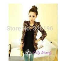 2014 women's fashion explosion models hot leopard small suit jacket